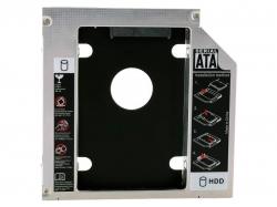 Фото Адаптер оптибей (optibay) 12.7mm SATA/miniSATA для установки второго жёсткого диска в ноутбук