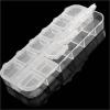 Фото Пластиковый контейнер для хранения мелких деталей, 12 ячеек