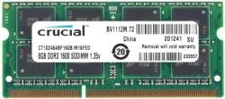 Фото Оперативная память CRUCIAL для ноутбука ASUS 8Gb SO-DIMM DDR3 PC3-12800 1600MHz