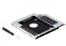 Адаптер оптибей (optibay) 9.5mm SATA/miniSATA для установки второго жёсткого диска в MacBook и MacBook Pro