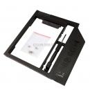 """Адаптер оптибей (optibay) 9.5mm SATA/miniSATA для подключения HDD 2,5"""" к ноутбуку пластиковый"""