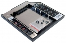 "Адаптер оптибей (optibay) 9.5mm SATA/miniSATA для подключения HDD 2,5"" к ноутбуку"